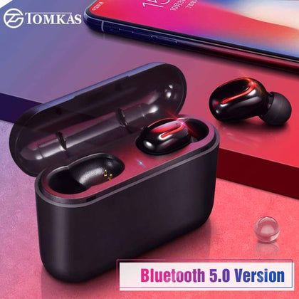 Gigi's Market, LLC TOMKAS Wireless Bluetooth Earphone with Charging Box