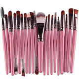 Gigi's Market Pink 20 pcs Makeup Brush Set tools Make-up Toiletry Kit Wool Make Up Brush Set
