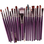 Gigi's Market Purple 20 pcs Makeup Brush Set tools Make-up Toiletry Kit Wool Make Up Brush Set
