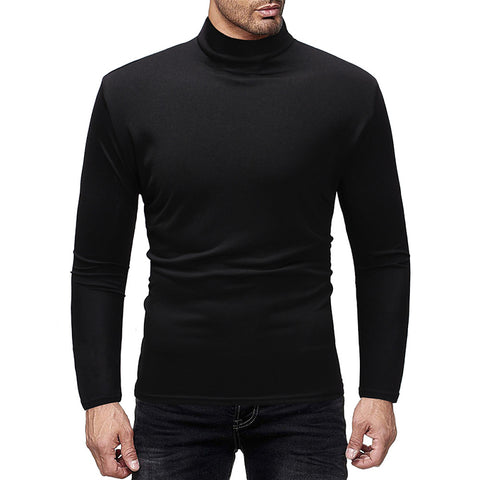 Men's Solid Colored Long Sleeve Pullover