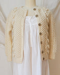 Vintage Bobble Knit Wool Cardigan