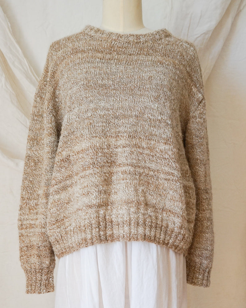 Vintage Speckled Wool Hand-Knit Jumper