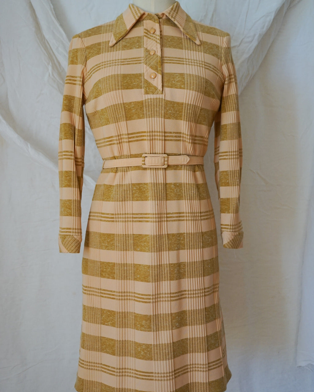 Vintage 70s Plaid Dress