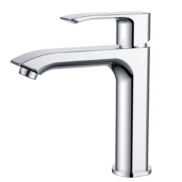 KODAEN, F-11125 Chrome, Single Handle, Single Hole Bathroom Faucet - CCSUPPLY INC.