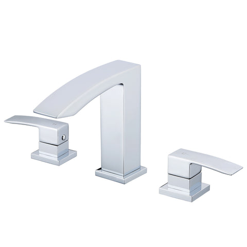 KODAEN, F-13103 Chrome, 2 Handles, 3 Holes Bathroom Faucet - CCSUPPLY INC.
