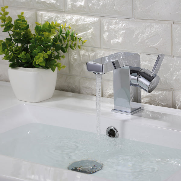 KODAEN, F-11111 Chrome, Single Handle, Single Hole Bathroom Faucet - CCSUPPLY INC.