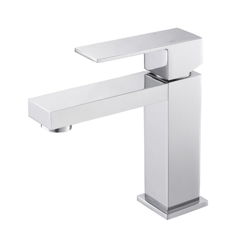 Aqua Kubo Single Lever Bathroom Vanity Faucet – Chrome - CCSUPPLY INC.