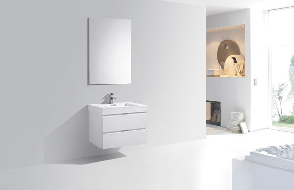 BLISS- 30″ Wall Mount Modern Bathroom Vanity - CCSUPPLY INC.
