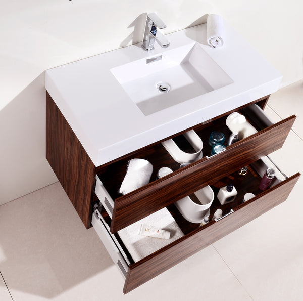 BLISS- 40″ Wall Mount Modern Bathroom Vanity - CCSUPPLY INC.