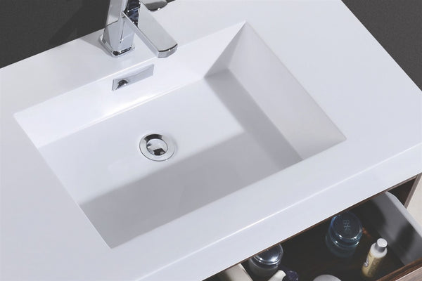 BLISS- 80″ Wall Mount Double Sink Modern Bathroom Vanity - CCSUPPLY INC.