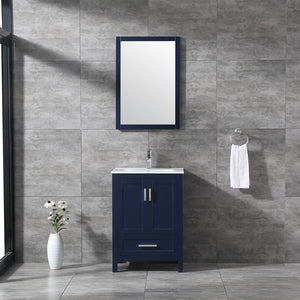 "CCS40- 24"" Solid Wood, Blue Navy, Floor Standing Modern Bathroom Vanity - CCSUPPLY INC."