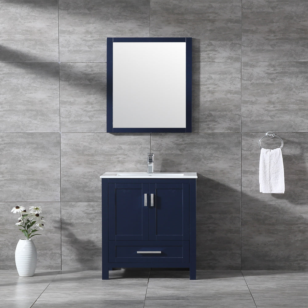 "CCS40- 30"" Solid Wood, Blue Navy, Floor Standing Modern Bathroom Vanity - CCSUPPLY INC."