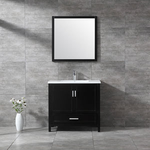 "CCS40- 36"" Solid Wood, Espresso, Floor Standing Modern Bathroom Vanity - CCSUPPLY INC."