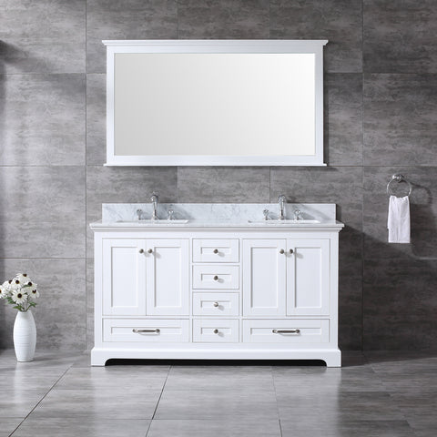 "CCS60-60"" White Bathroom Vanity With 3/4"" Quartz Top - CCSUPPLY INC."