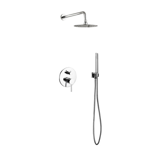 Aqua Rondo- Shower Faucet With 8″ Rain Shower and Handheld - CCSUPPLY INC.