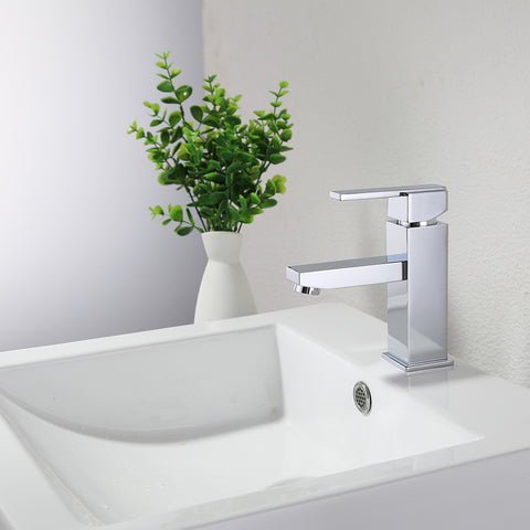 KODAEN, F-11107 Chrome, Single Handle, Single Hole Bathroom Faucet - CCSUPPLY INC.