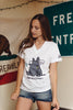 AWKWARD RHINO SHIRT {WHITE] (GIRLS)