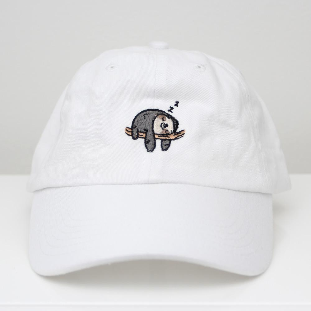Sloth Mode - White Dad Hat