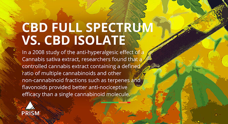 CBD full spectrum vs. CBD isolate