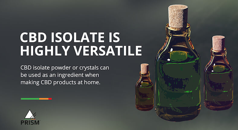 CBD isolate is highly versatile