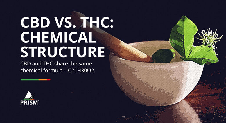 CBD vs. THC: chemical structure