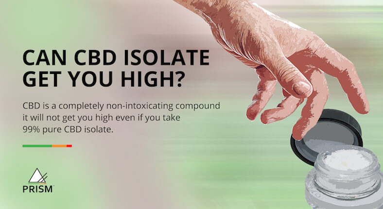 Can CBD isolate get you high?