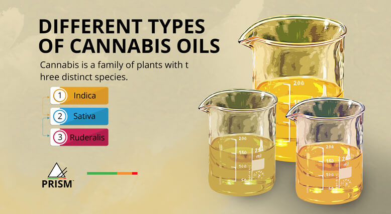 Different types of cannabis oils