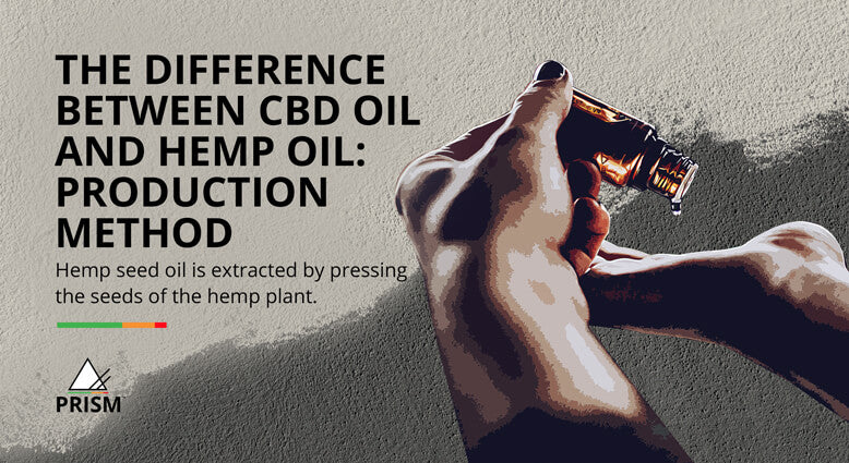 The difference between CBD oil and hemp oil: production method