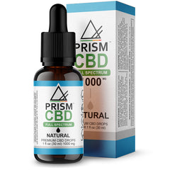 CBD Oil Full Spectrum Natural 500mg 30ml Bottle and Box