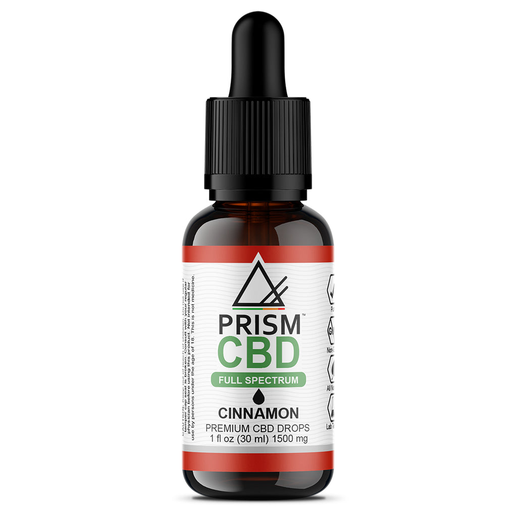 CBD Oil Full Spectrum Cinnamon 1500mg 30ml Bottle