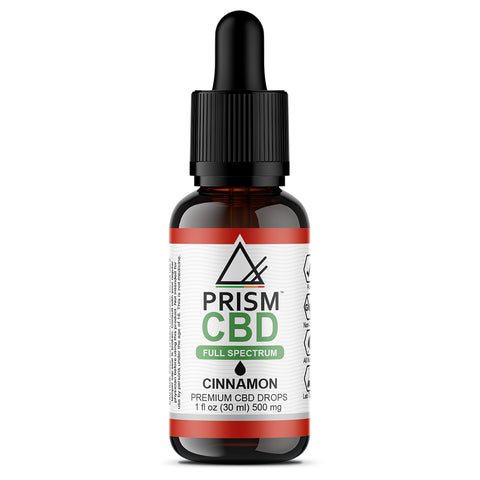 CBD Oil Full Spectrum Cinnamon 500mg 30ml Bottle