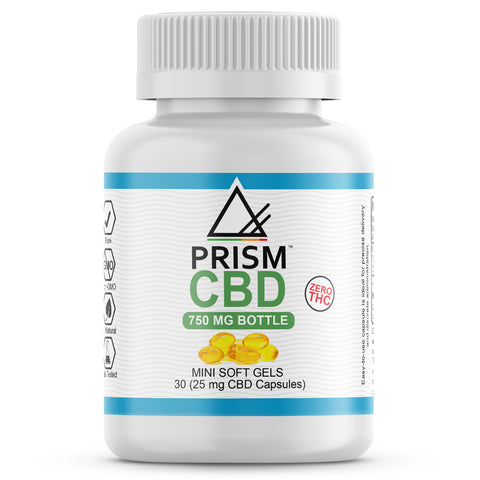 CBD Gel Capsules Bottle 30 Count