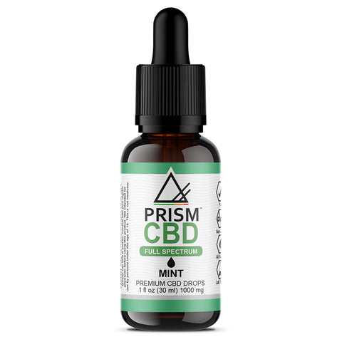 CBD Oil Full Spectrum Mint 1000mg 30ml Bottle
