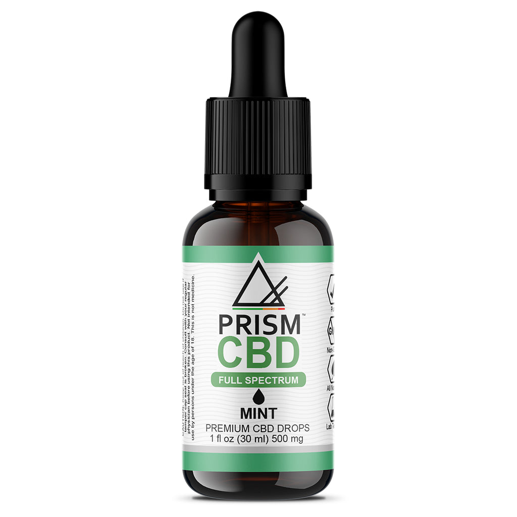CBD Oil Full Spectrum Mint 500mg 30ml Bottle