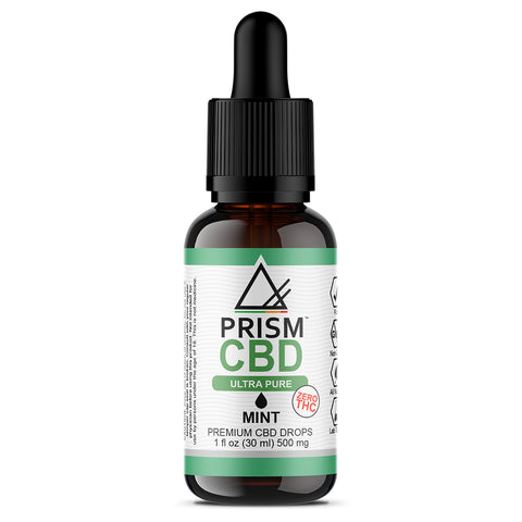 CBD Oil Mint 500mg 30ml Bottle