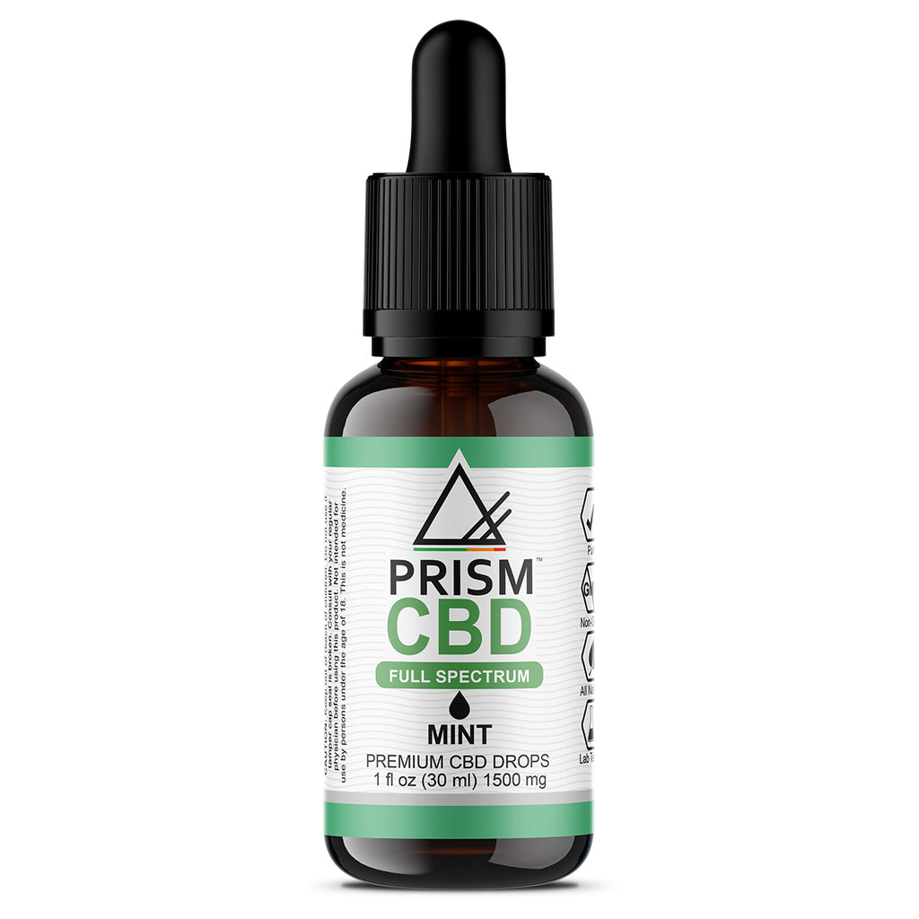 CBD Oil Full Spectrum Mint 1500mg 30ml Bottle