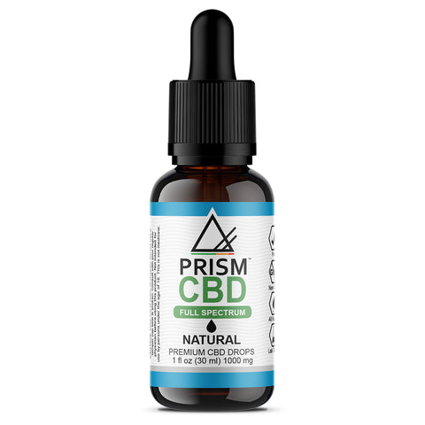 CBD Oil Full Spectrum Natural 1000mg 30ml Bottle