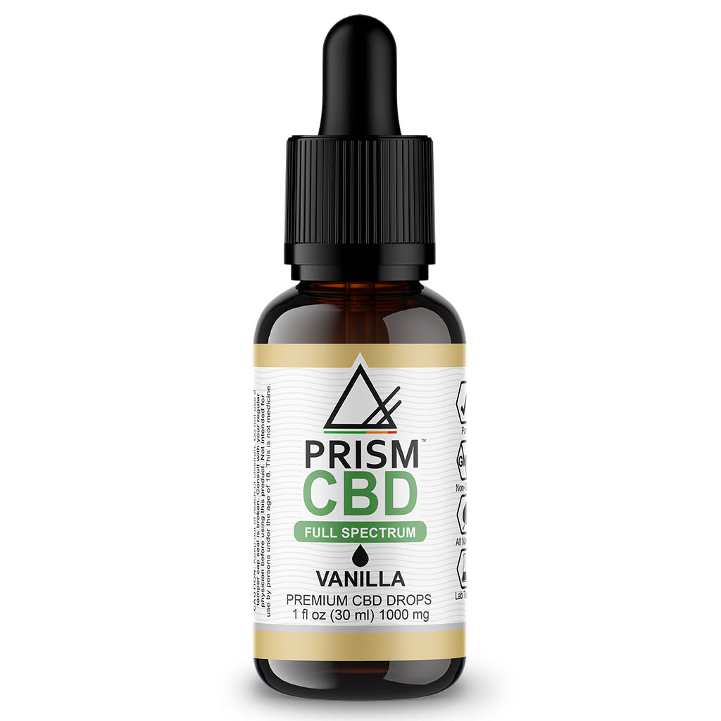 CBD Oil Full Spectrum Vanilla 1000mg 30ml Bottle