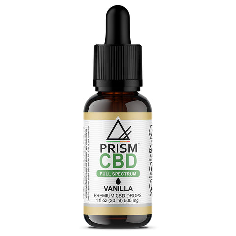 CBD Oil Full Spectrum Vanilla 500mg 30ml Bottle