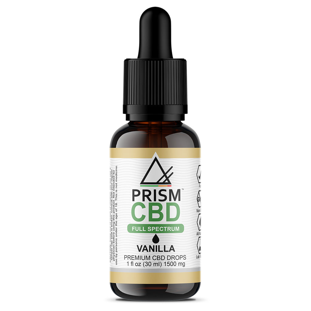 CBD Oil Full Spectrum Vanilla 1500mg 30ml Bottle