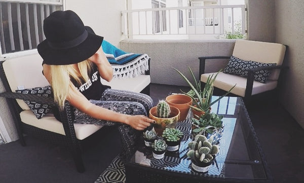 DIY: Gilded Terracotta Pots + Succulents