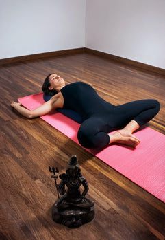 luthfiannisahay yoga butterfly pose lying down