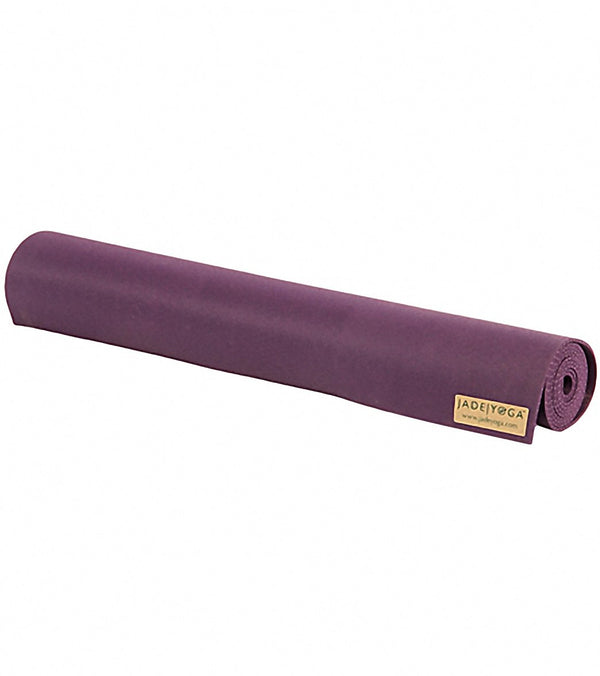 "Jade Yoga Travel Long Natural Rubber Yoga Mat 74"" 3mm"