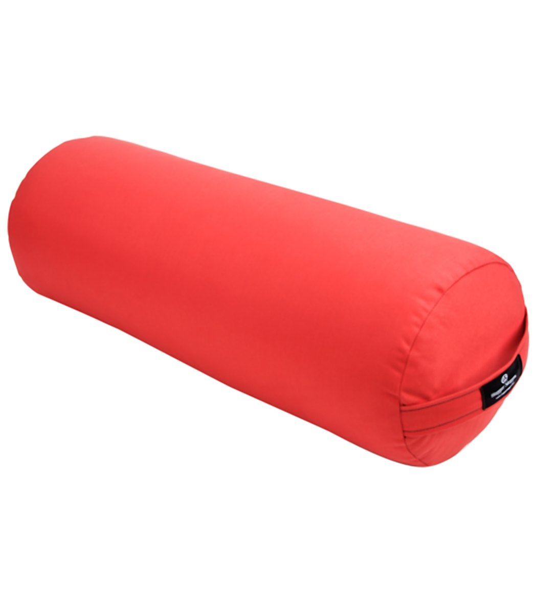 Get the additional support and comfort you want with this Hugger Mugger(TM) Round Yoga Bolster. Ideal for restorative yoga, but great for all types. Removable cover with a convenient handle. Oval shape with a flat surface for comfort. Dimensions: 9\