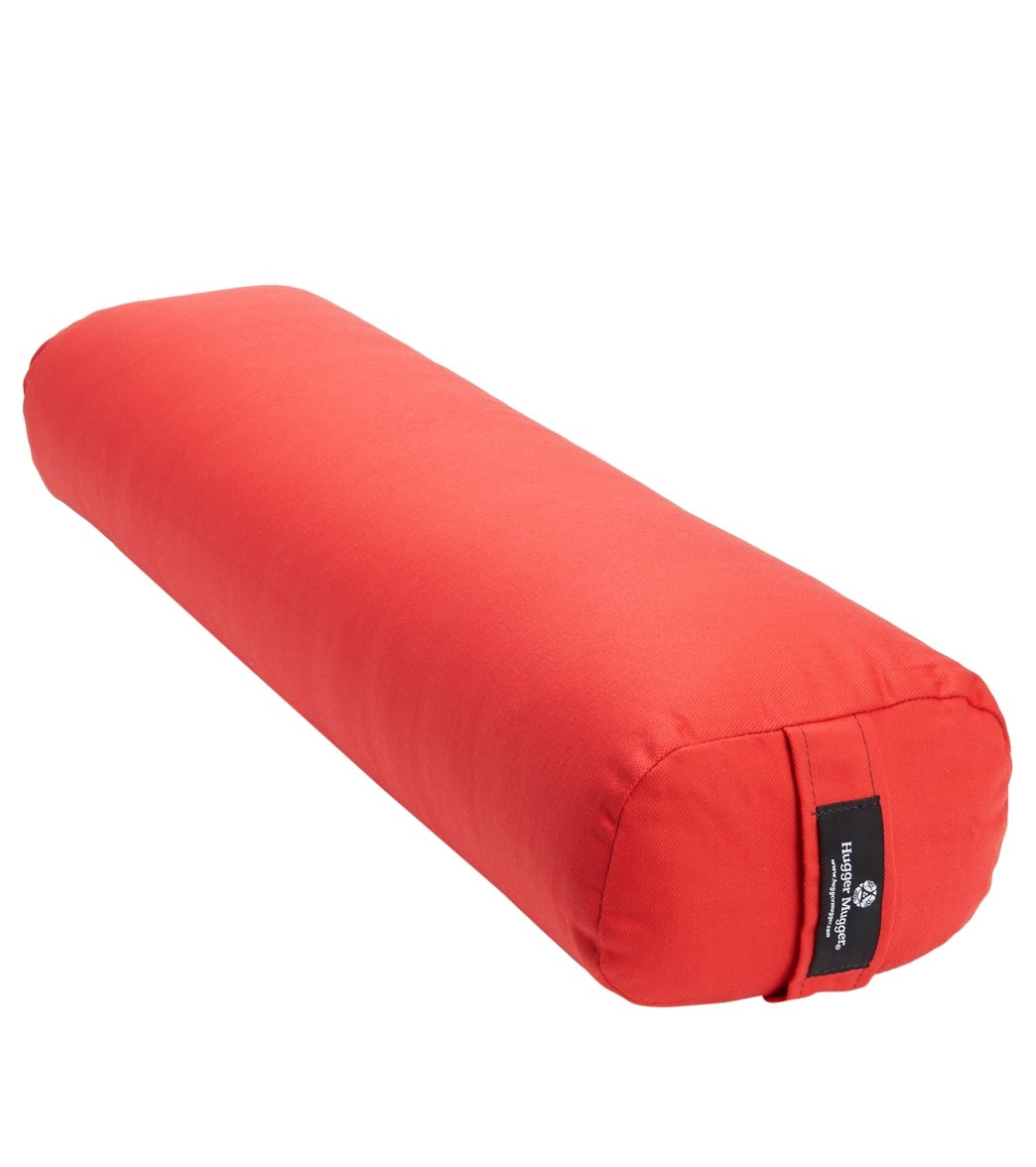 The Junior Yoga Bolster from Hugger Mugger(TM) is smaller than a standard yoga bolster that helps promote chest expansion and free respiration. Narrow width with a slightly arched top. Great for all types of yoga. Lightweight and portable. Removable cover with a convenient handle. Dimensions: 5\