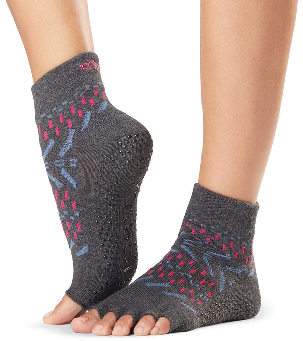 Toesox Ankle Length Half-Toe Yoga Grip Socks