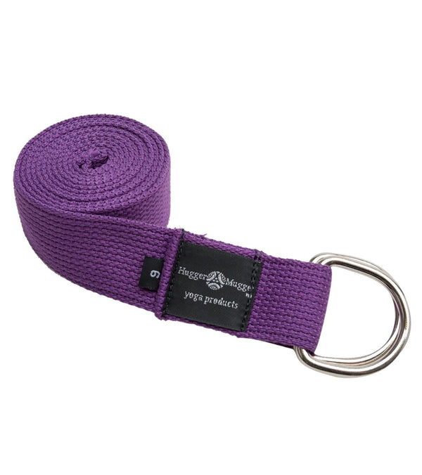 Hugger Mugger D-Ring Cotton Yoga Strap 6'