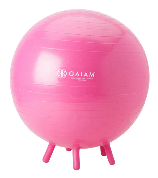 Gaiam Kids Stay-N-Play Stability Ball Pink