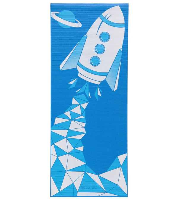 "Gaiam Kids Yoga Mat Blue Rocket 60"" 3mm"