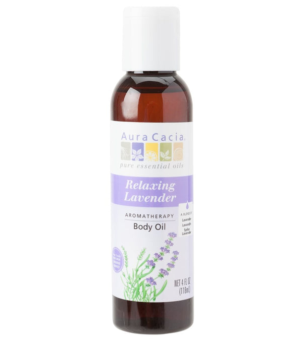 Aura Cacia Relaxing Lavender Aromatherapy Body Oil